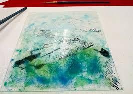 reverse painting on plexiglass class