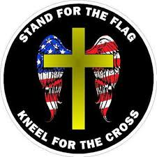 Amazon Com Ion Graphics 2 Non Stand For The Flag Kneel For The Cross Round Vinyl Sticker Decal Size 4 Inches Automotive