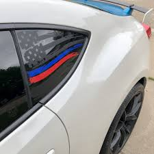 American Flag V2 Blue And Red Stripe For Fr S Brz Gt86 And 86 Everything Vinyl Decal