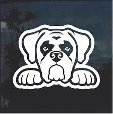 Boxer Peeking Dog Window Decal Sticker Dog Window Window Decals Dog Peeking