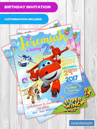 Superwings Birthday Invitation Invitaciones De Cumpleanos