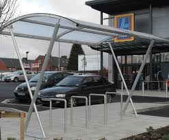 Banbury Steel Cycle Shelter Canopy Iae Fencing Esi External Works