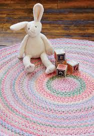 baby s breath round braided rugs pink