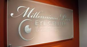 etched glass signs frosted glass