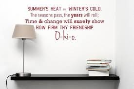 Osu Carmen Ohio Decal Summer S Heat Or Winter S Cold The Seasons Pass The Years Will Roll How Firm Thy Friendship Ohio State University Osu Ohio State Winters