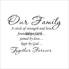 wall sticker quotes our family a circle of strength and love wall