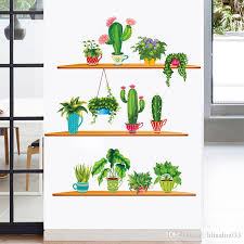 Diy Removable 3d Autocollant Plant Cactus Wall Sticker Mural Art Wall Decal Home Decoration Decorative Wall Decals Removable Decorative Wall Sticker From Wulifang 4 3 Dhgate Com