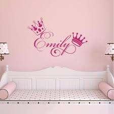 Crown Girls Name Sticker Nursery Wall Decals Kids Room Wall Decals Nursery Decals Girl
