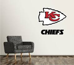 Kansas City Chiefs Wall Decal Logo Football Nfl Art Sticker Vinyl Large Sr102 Ebay