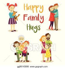 vector stock happy family members