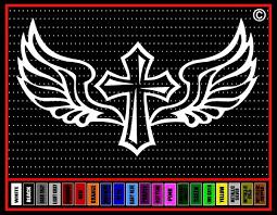 Cross Wings 5 Christian Car Decal Vinyl Sticker Noizy Graphics Christian Apparel Decals Frames More