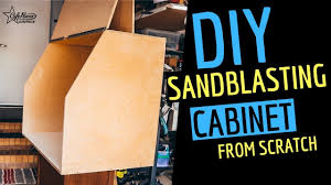 making a sandblasting cabinet from