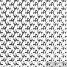 seamless pattern with panda wallpaper