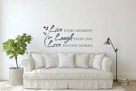 Live Laugh Love Wall Decal Quote Inspirational Quote Wall Etsy