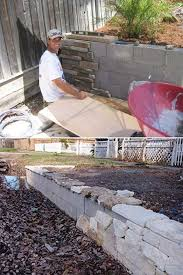 build a backyard retaining wall with