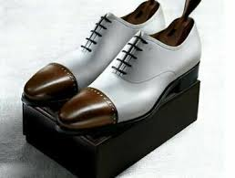 white leather men lace up dress shoes
