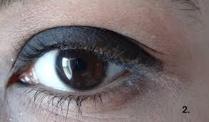 glitter with black eye makeup 2