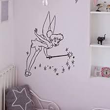 Amazon Com Tinkerbell Wall Vinyl Decals Princess Silhouette Peter Pan Bedroom Decal Wall Stickers Baby Nursery Wall Art Kids Room Decor Q066 Home Improvement