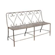 pair of french faux bois benches