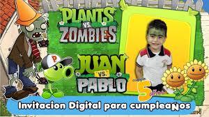 Plantas Vs Zombies Invitacion Digital Video Cumpleanos Youtube