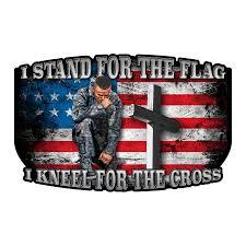 Kneel For The Cross Decal Built Usa