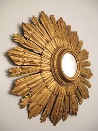 antique gold sunburst italian convex