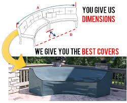 outdoor curved sofas covers custom made