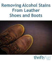 stains from leather shoes and boots
