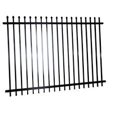 Protector Aluminium 2400 X 1800mm Black Steel Security Fence Panel