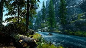 river in mounn forest hd Обои Фон