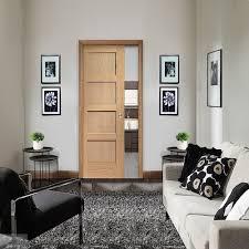 oak sliding pocket doors