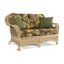 rattan loveseat wicker sofa