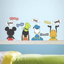 Mickey Mouse And Friends Wall Decals Personalized Clubhouse Design Bathroom Christmas Amazon Ears Vamosrayos