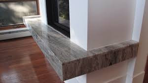 granite slab fireplace suspended hearth