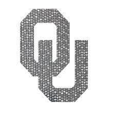 Oklahoma Sooners 3 Silver Hearts Ou Logo Vinyl Decal