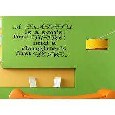 Shop Phrase Dad Son S Hero And Daughter S Love Wall Art Sticker Decal Overstock 11617706