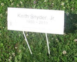 """Keith Duane """"Sammy"""" Snyder Jr. (1955-2019) - Find A Grave Memorial"""