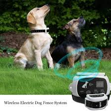 Dog Fence System Outdoor Wireless Dog Fence Containment System Rechargeable Waterproof Collar