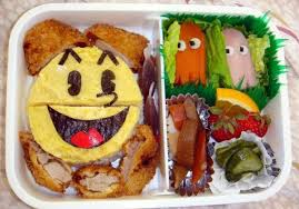 pacman bento is one lunch box which