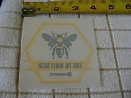 Earth Justice Environmental Save The Honey Bees Bumper Sticker Window Decal New 1814670291