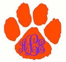Pin By Hook Design And Sinker On Etsy On Life As I Know It Car Monogram Decal Clemson Clemson Football