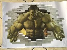Marvel 3d The Incredible Hulk Wall Stickers Break Thru Wall Decal For Home Decor 14 99 Picclick