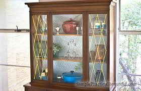 cabinet with removable wallpaper