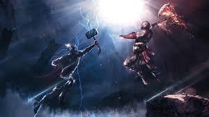kratos crossover fan art 4k