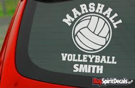 Volleyball Decals Sport Decals Myspiritdecal Com