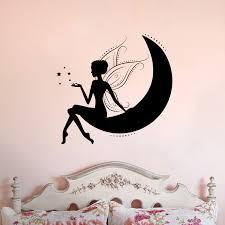 Fairy Sitting On Moon Vinyl Wall Decal Cosmic Frogs Vinyl