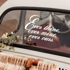 Ever Thine Ever Mine Ever Ours Vinyl Decal Quote Match Set Love