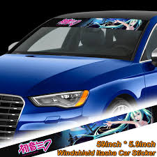 Car Truck Graphics Decals Auto Parts And Vehicles Hatsune Miku Car Front Windshield Graphics Decal Vinyl Sticker Anime Rear Window Megeriancarpet Am