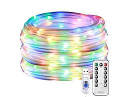 Le Led Rope Lights Outdoor Multi Colored Indoor String Lights With Remote 8 Modes Waterproof 33ft 100 Led Usb Powered Fairy Lights For Bedroom Garden Patio Kids Room Deck Christmas Newegg Com