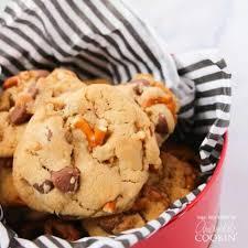 pretzel chocolate chip cookies a sweet
